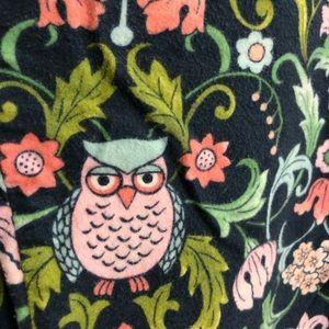 Nick & Nora XL Pajamas Set Owl Shirt & Pant